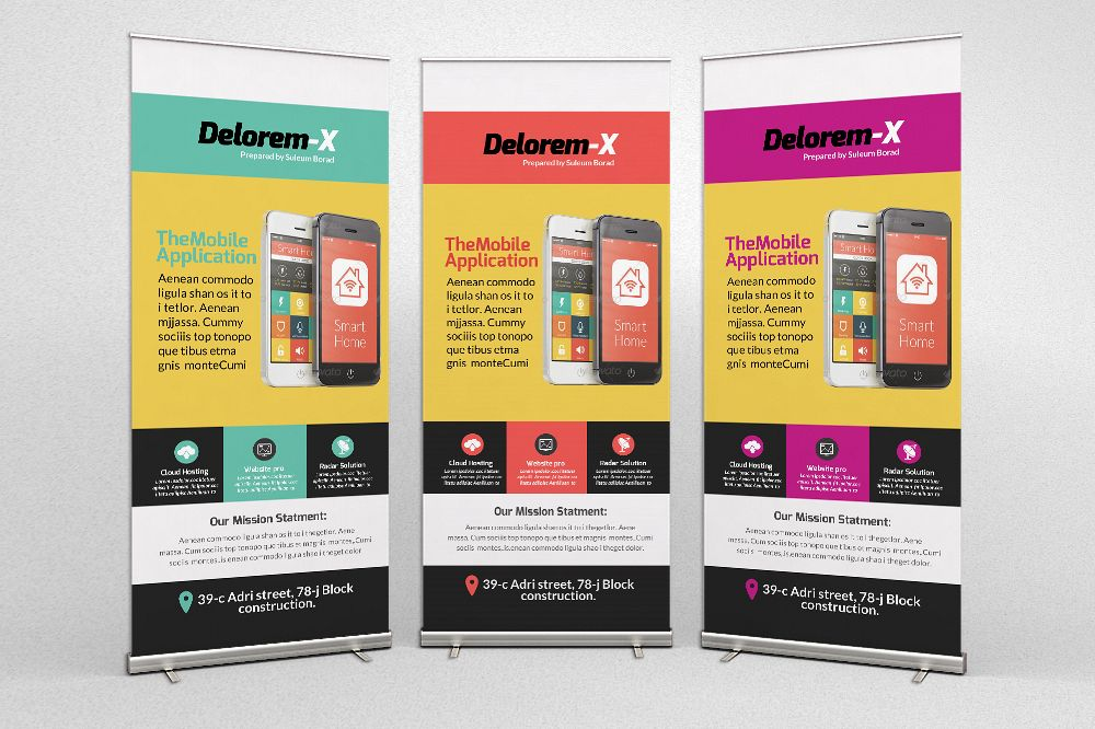 Mobile Apps Roll Up Banners example image 1