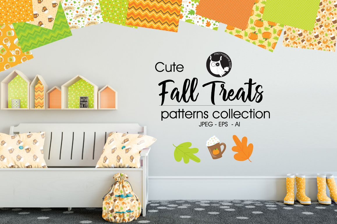 FALL-TREATS, digital papers example image 1