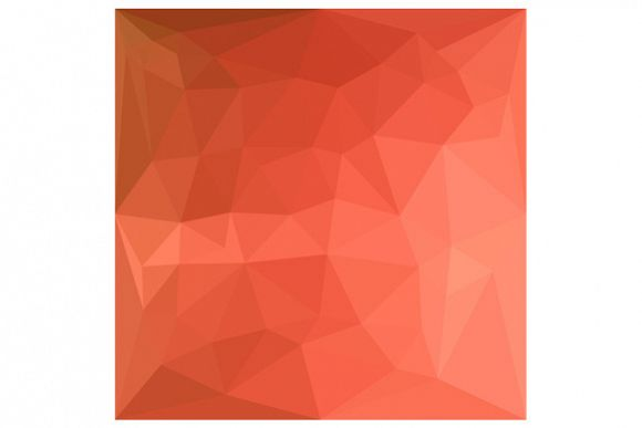 Light Salmon Abstract Low Polygon Background example image 1