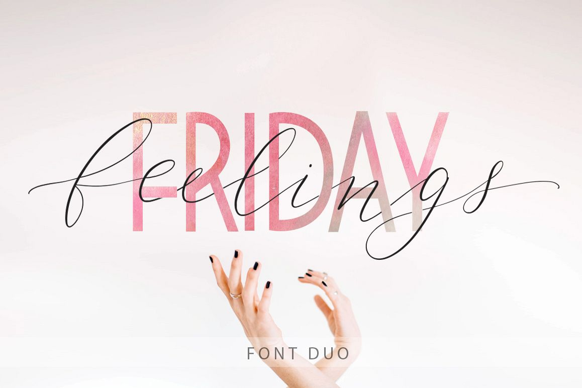 Friday feelings. Font duo. example image 1