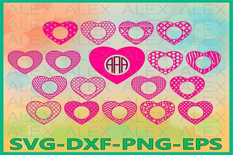 Hearts Monogram SVG, Valentine's day svg, Heart File svg example image 1