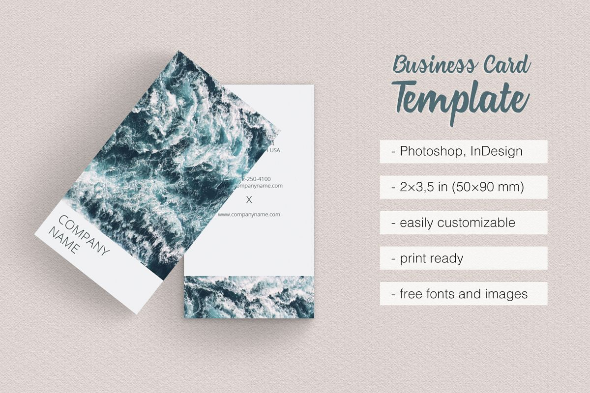 Vertical Photographer Business Card example image 1