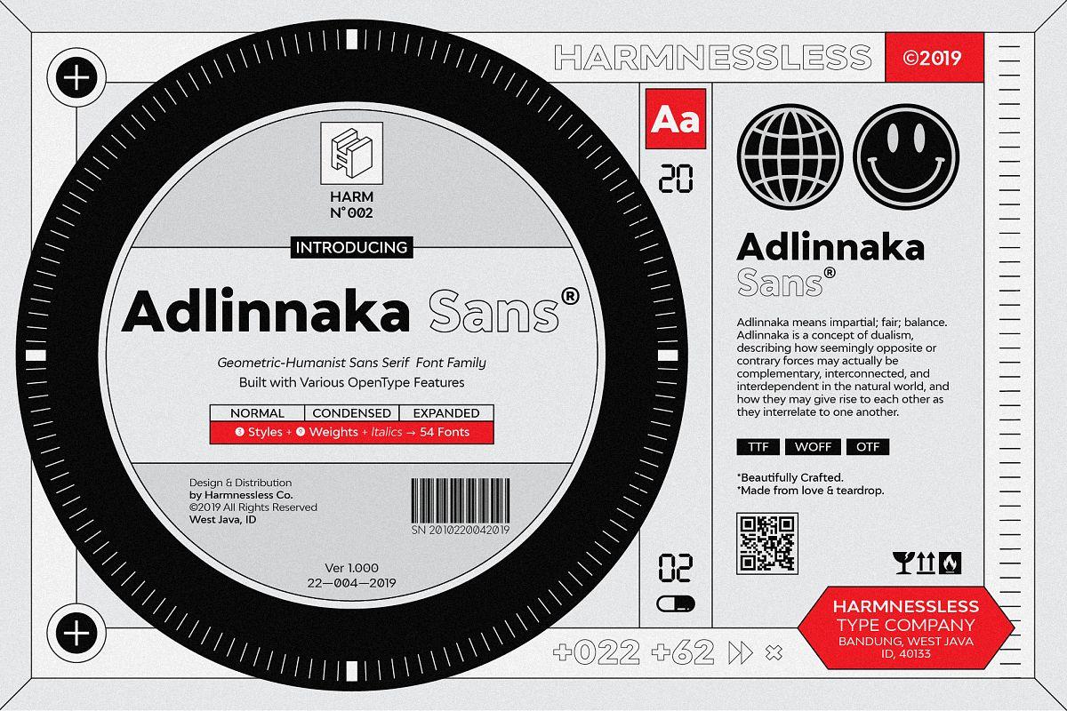 Adlinnaka Sans - Font Family example image 1