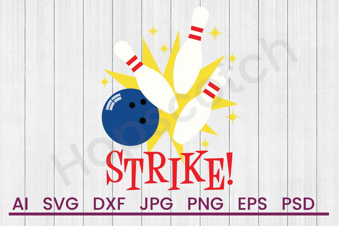 Bowling Pins SVG, Strike SVG, DXF File, Cuttatable File example image 1