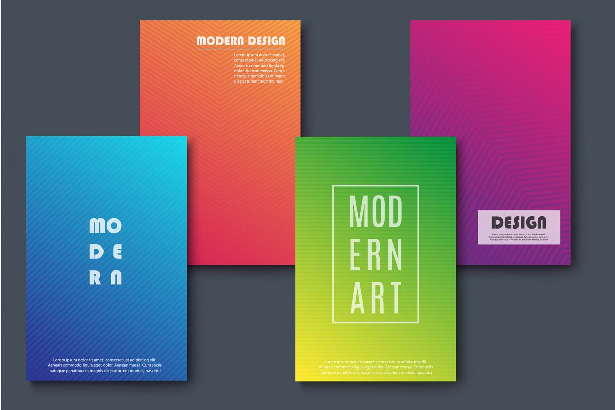 Abstract Modern Banners example image 1