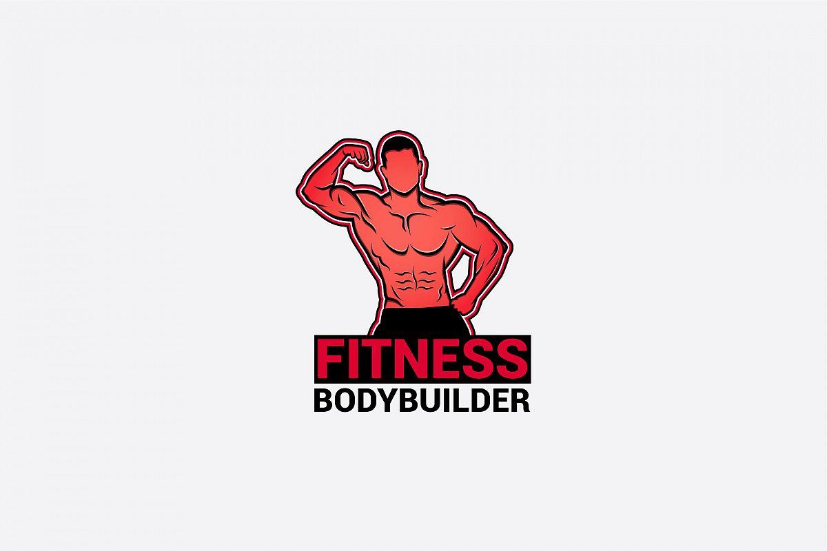 bodybuilder logo 3 example image 1