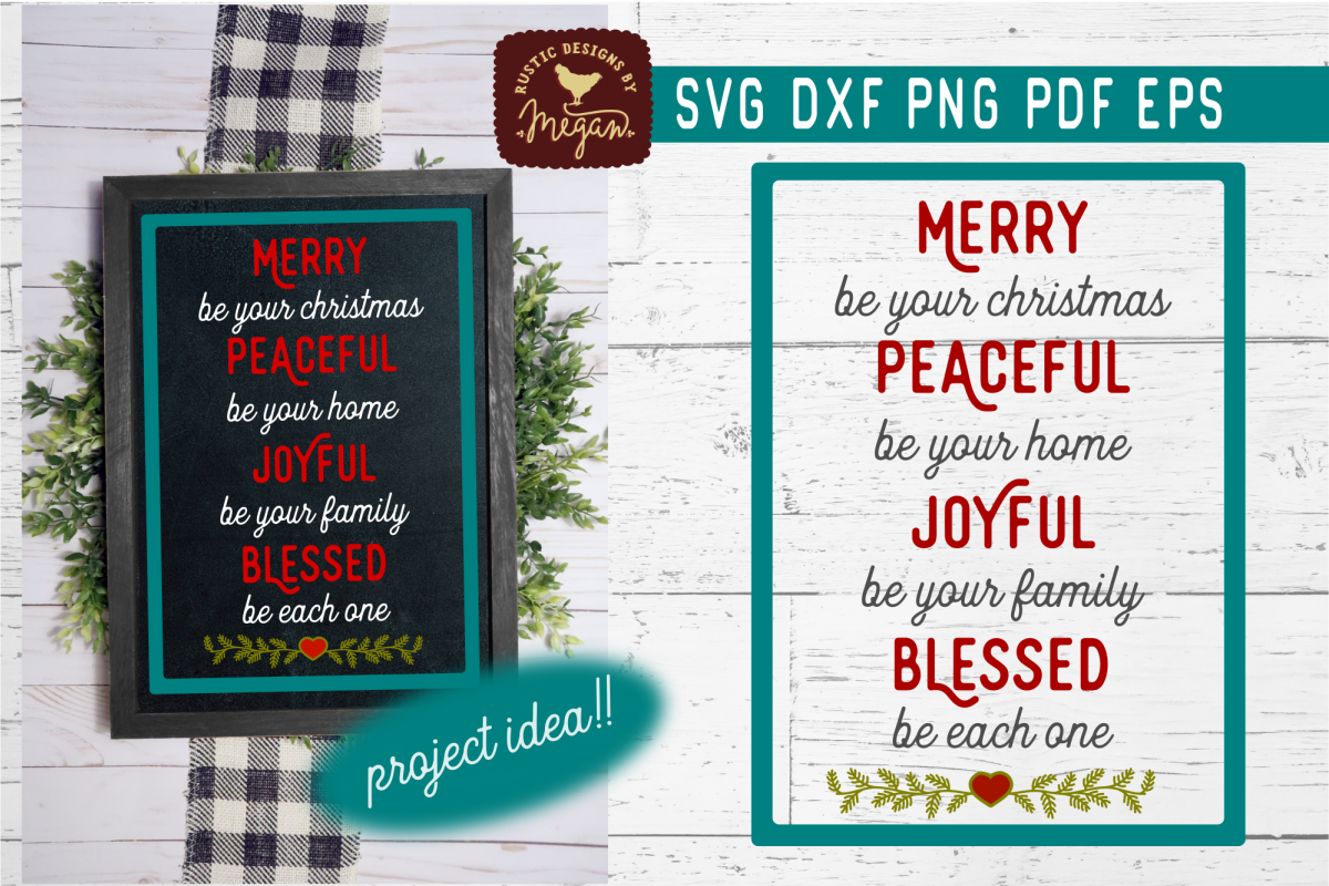 Merry Be Your Christmas SVG DXF Cut File example image 1