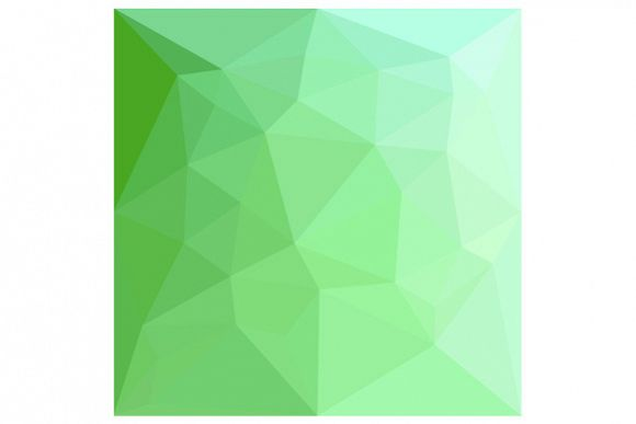 Dark Sea Green Abstract Low Polygon Background example image 1