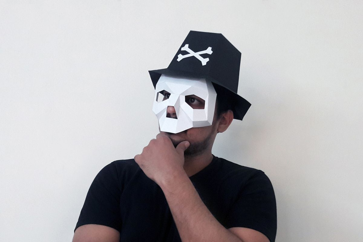 DIY Skull Hat - 3d papercrafts example image 1
