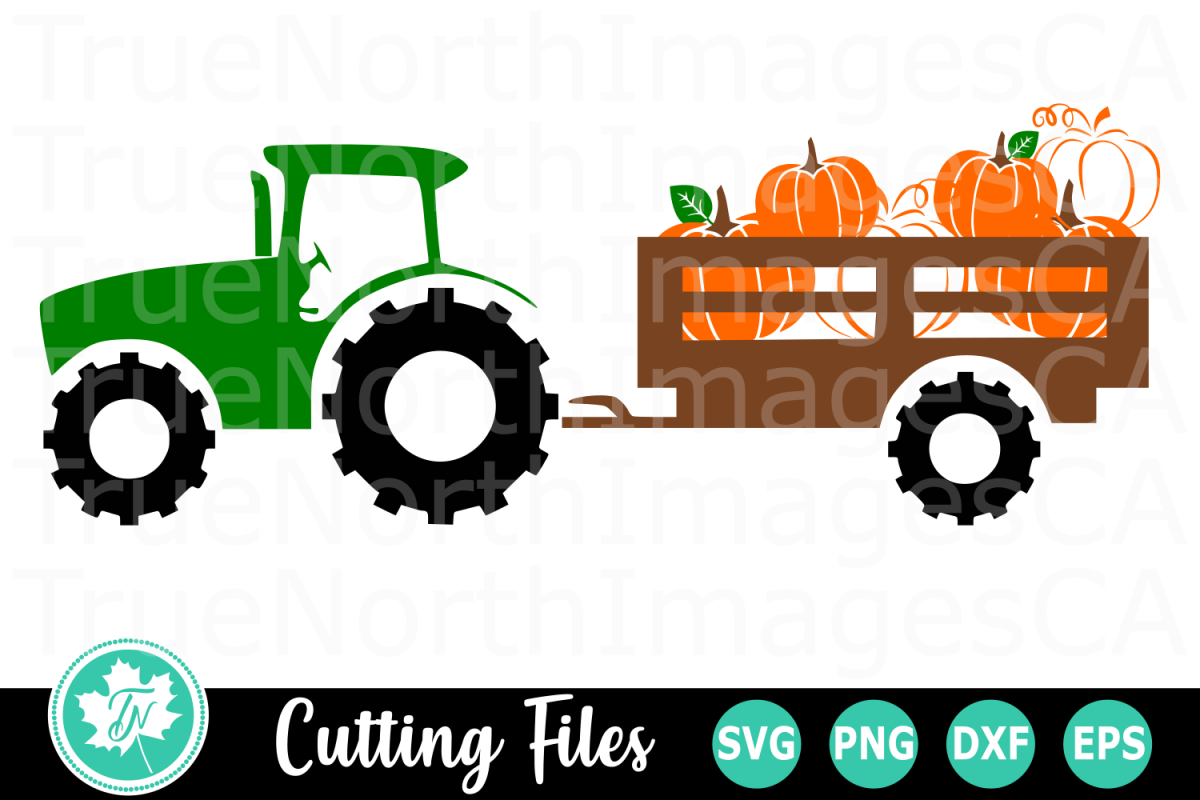 Pumpkin Tractor - A Fall SVG Cut File example image 1