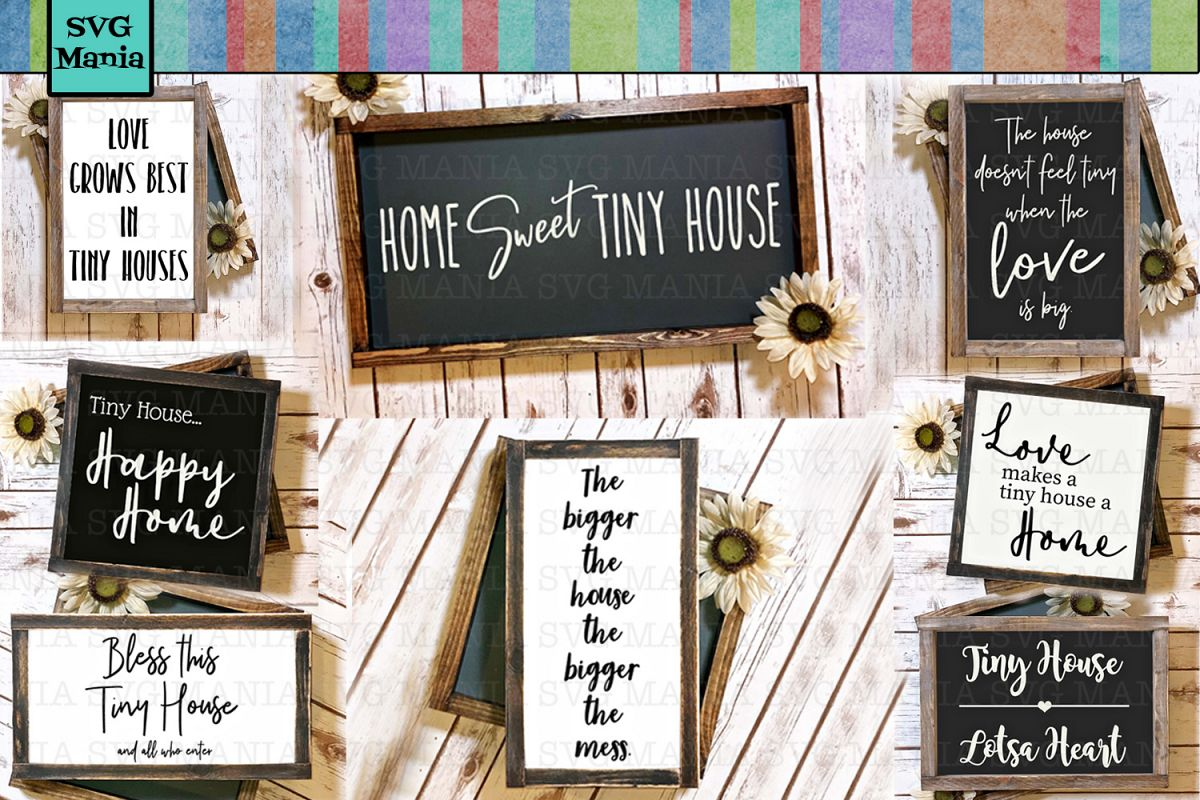 Tiny House SVG File Bundle, SVG Sayings for Tiny Houses, SVG example image 1