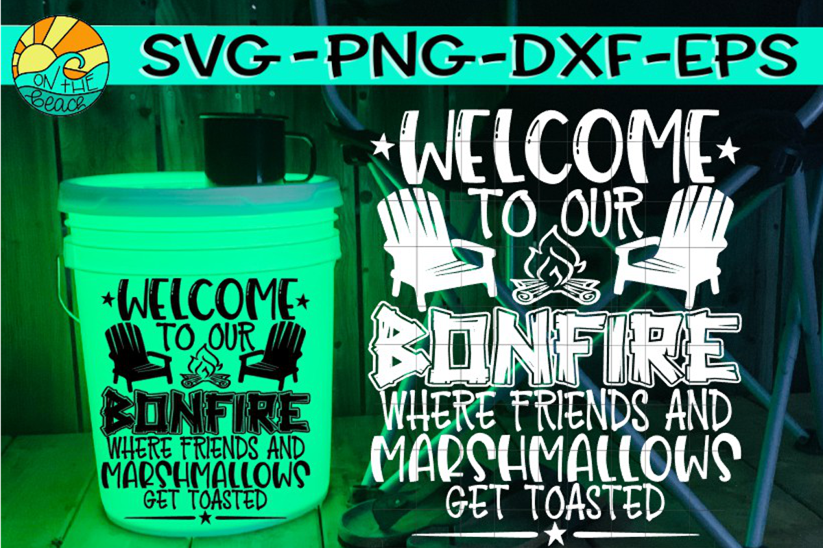 Welcome To Our Bonfire- Camping LED Bucket - Welcome Mat
