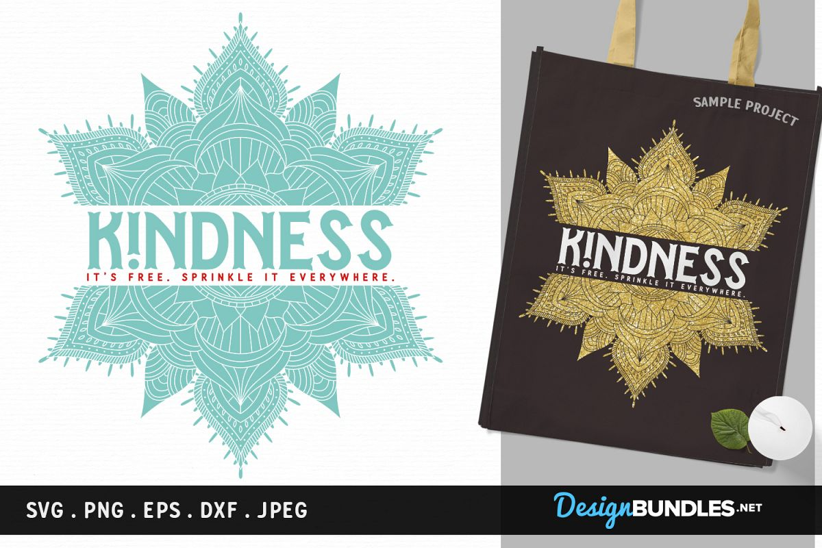 Kindness is Free - svg cut file, printable example image 1
