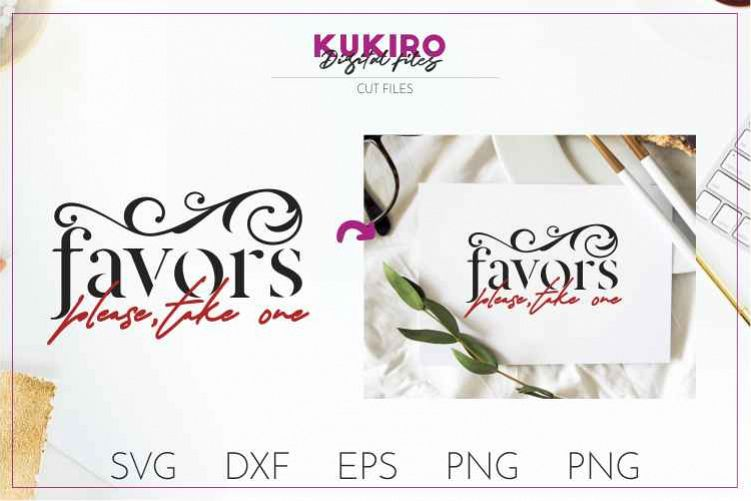 FAVORS please take one - Wedding cut file SVG JPG PNG DXF example image 1