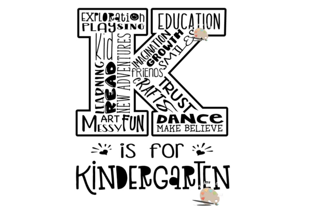 k is for kindergarten svg first day of design bundles