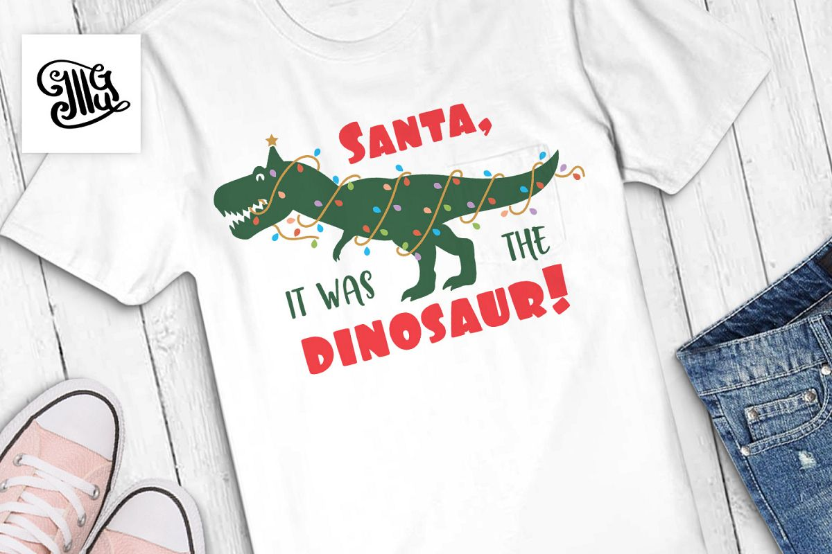 Santa, it was the dinosaur! - kids example image 1