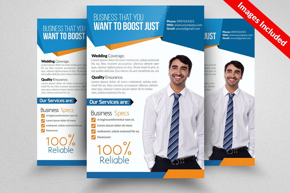 Corporate & Business Flyers Templates example image 1