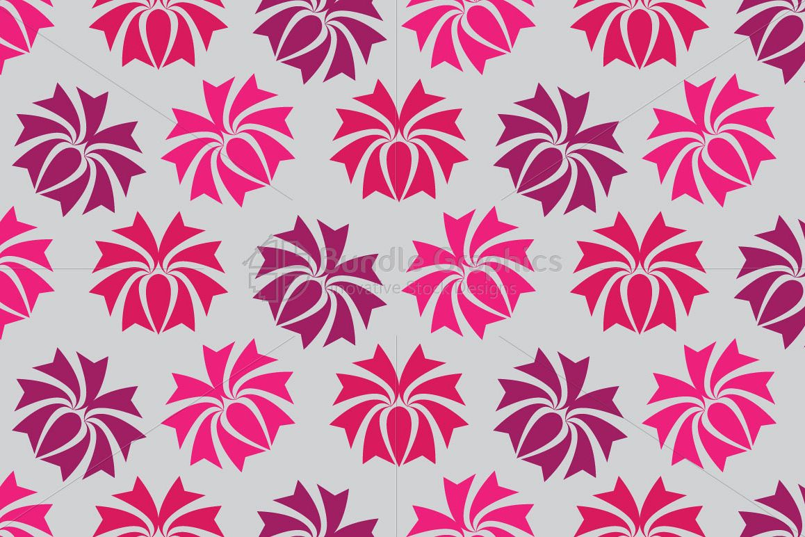 Flowers - Seamless Pattern example image 1