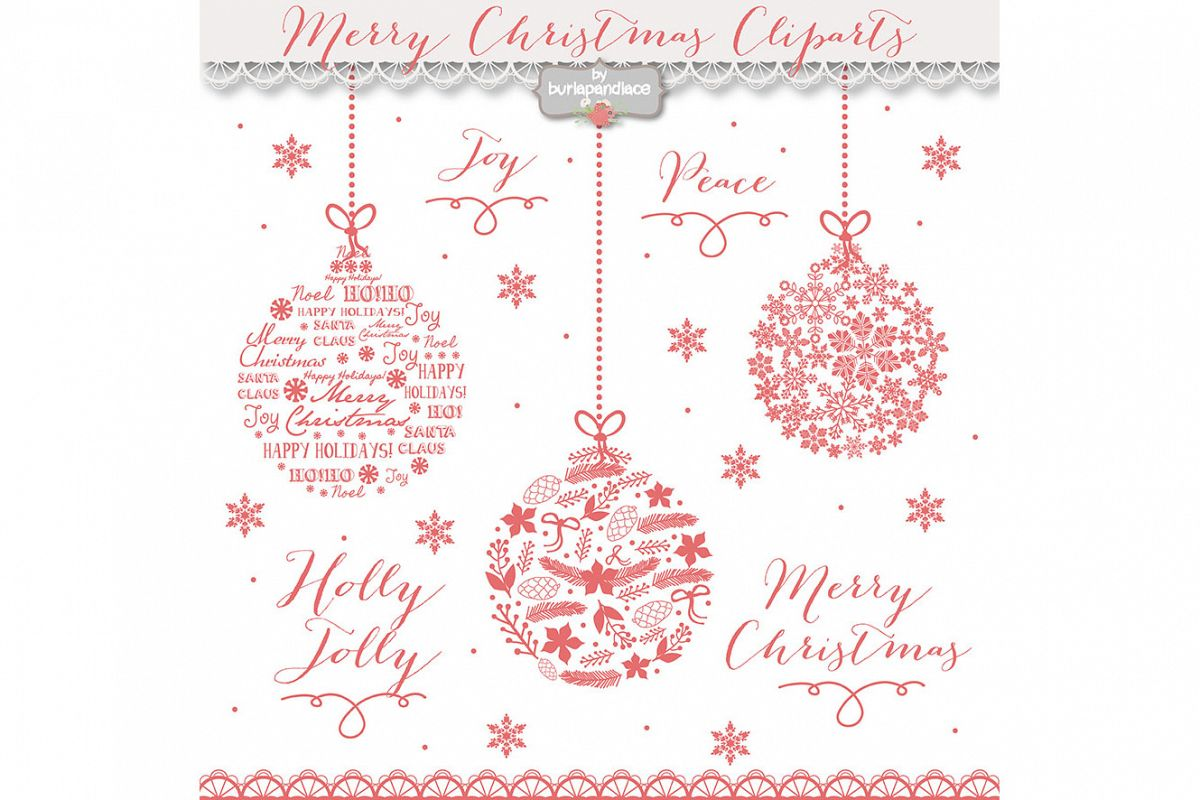 Red christmas ball clip arts example image 1