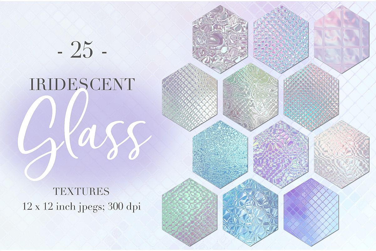 Iridescent glass textures example image 1
