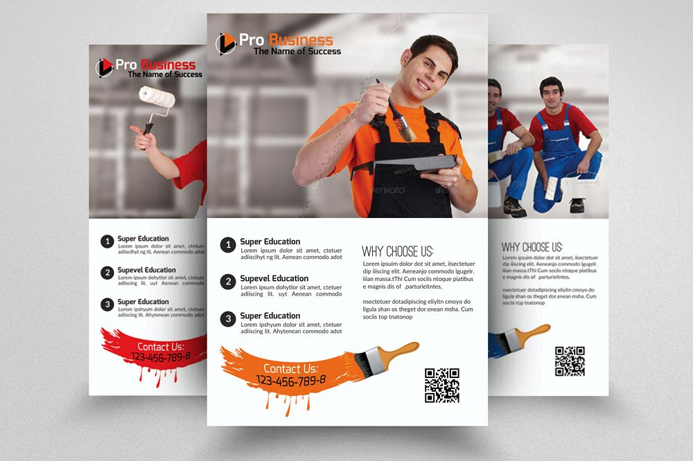 House Paint Conductor Flyer Template example image 1