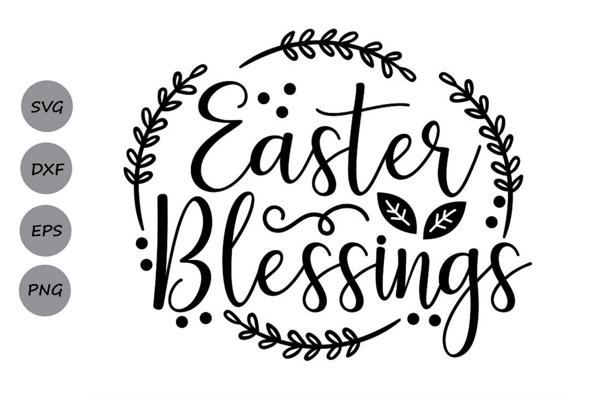 Easter Blessings Svg, Easter Svg, Christian Easter Svg. example image 1