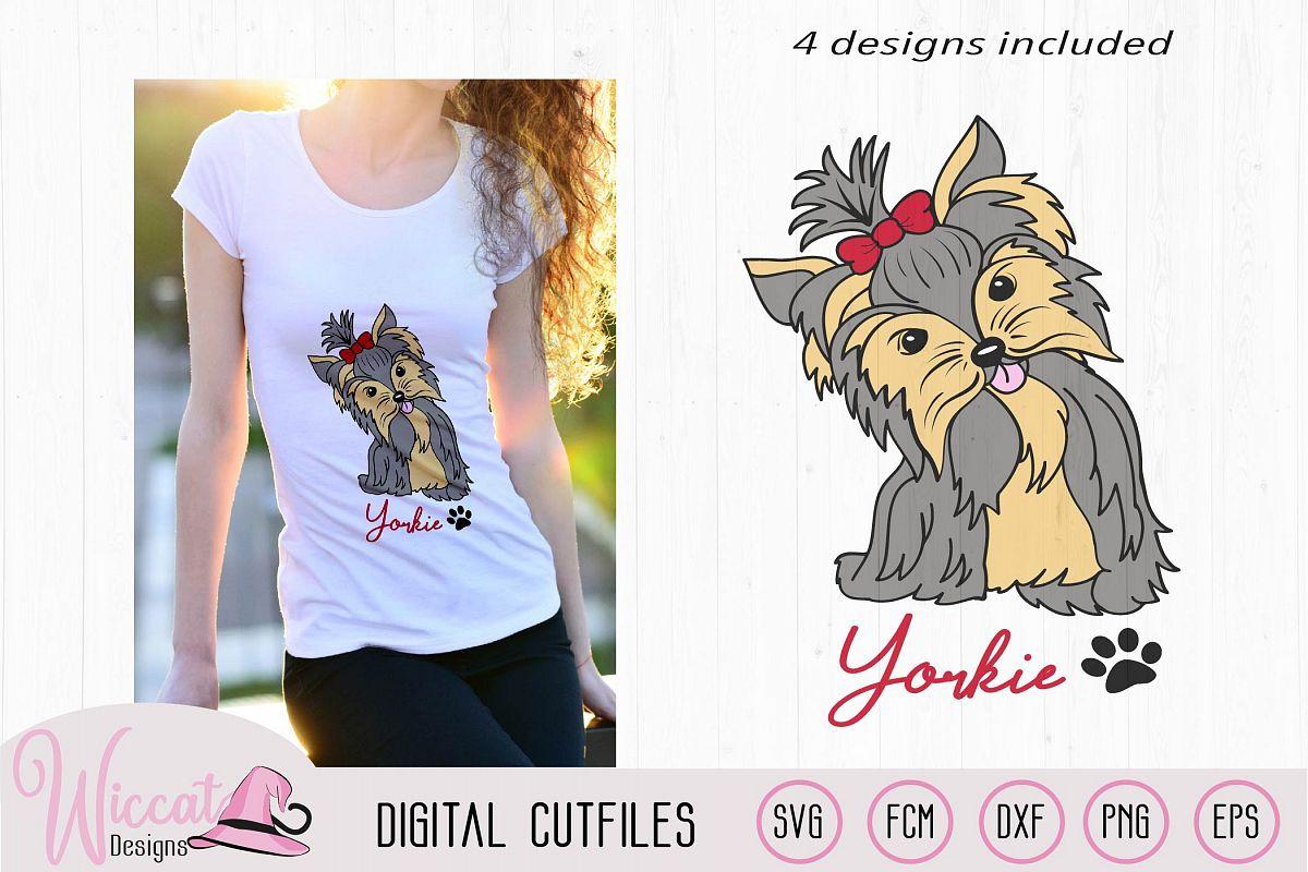 Yorkie svg, Yorkie color svg, Girl dog, girly dog svg example image 1