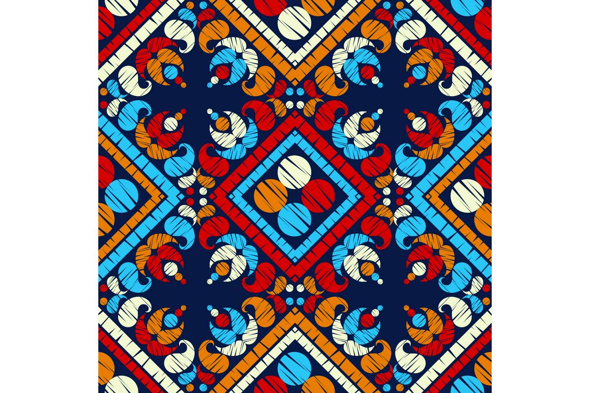 Paisley ornament. Set of 10 seamless patterns. example image 1