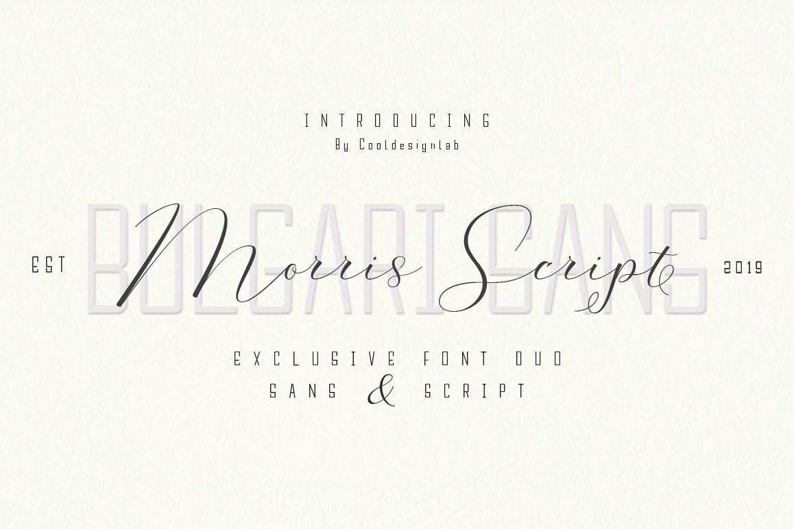 Morris Script | Font Duo example image 1