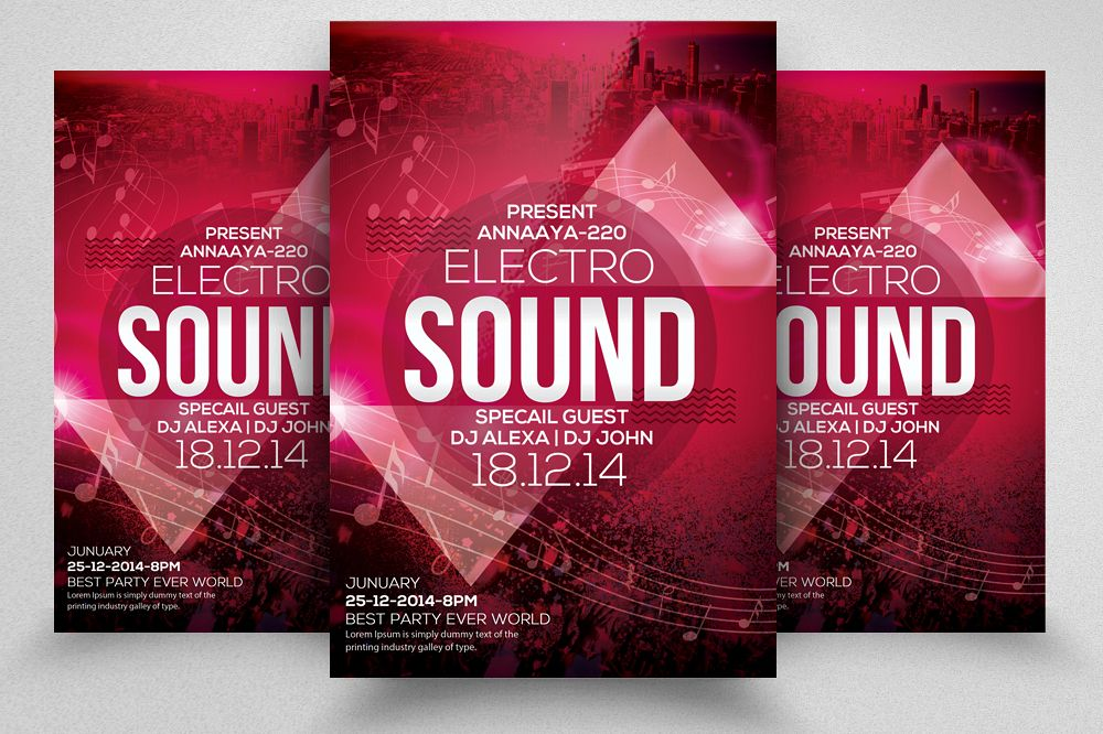 Sound Music Flyer Template 05