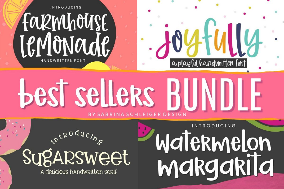 Font Bundle- 4 Handwritten Fonts example image 1