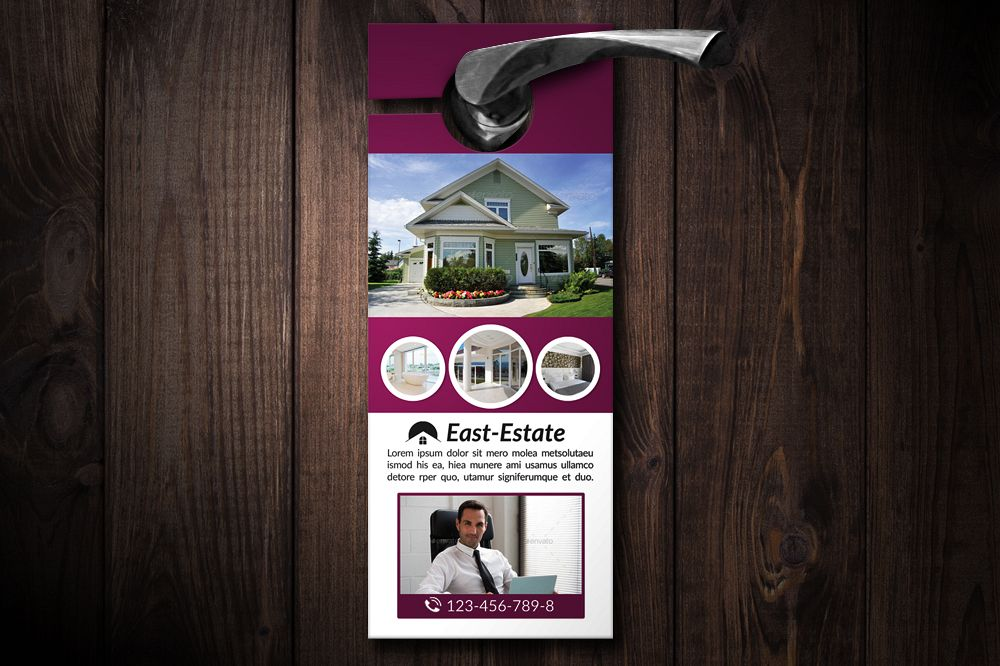 Real Estate Agency Door Hangers example image 1
