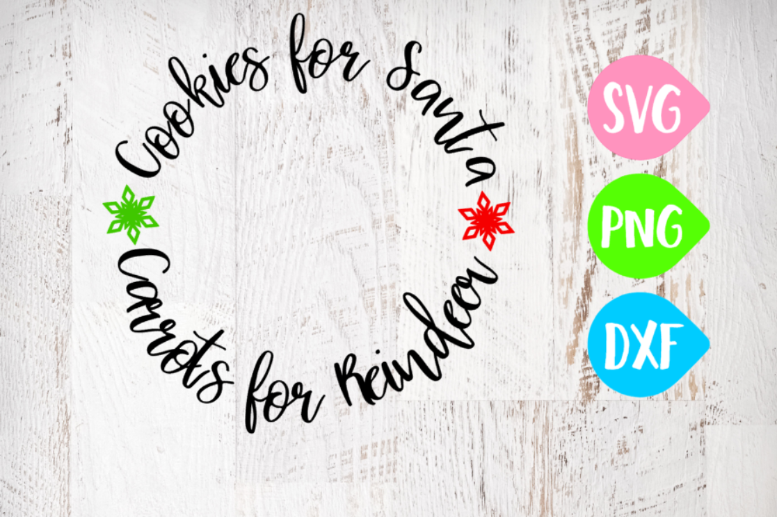 Cookies for Santa Svg, Carrots for Reindeer Svg, Christmas Svg, Cookie Plate  example image 1
