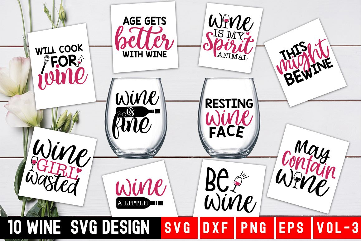Wine SVG Bundle example image 1
