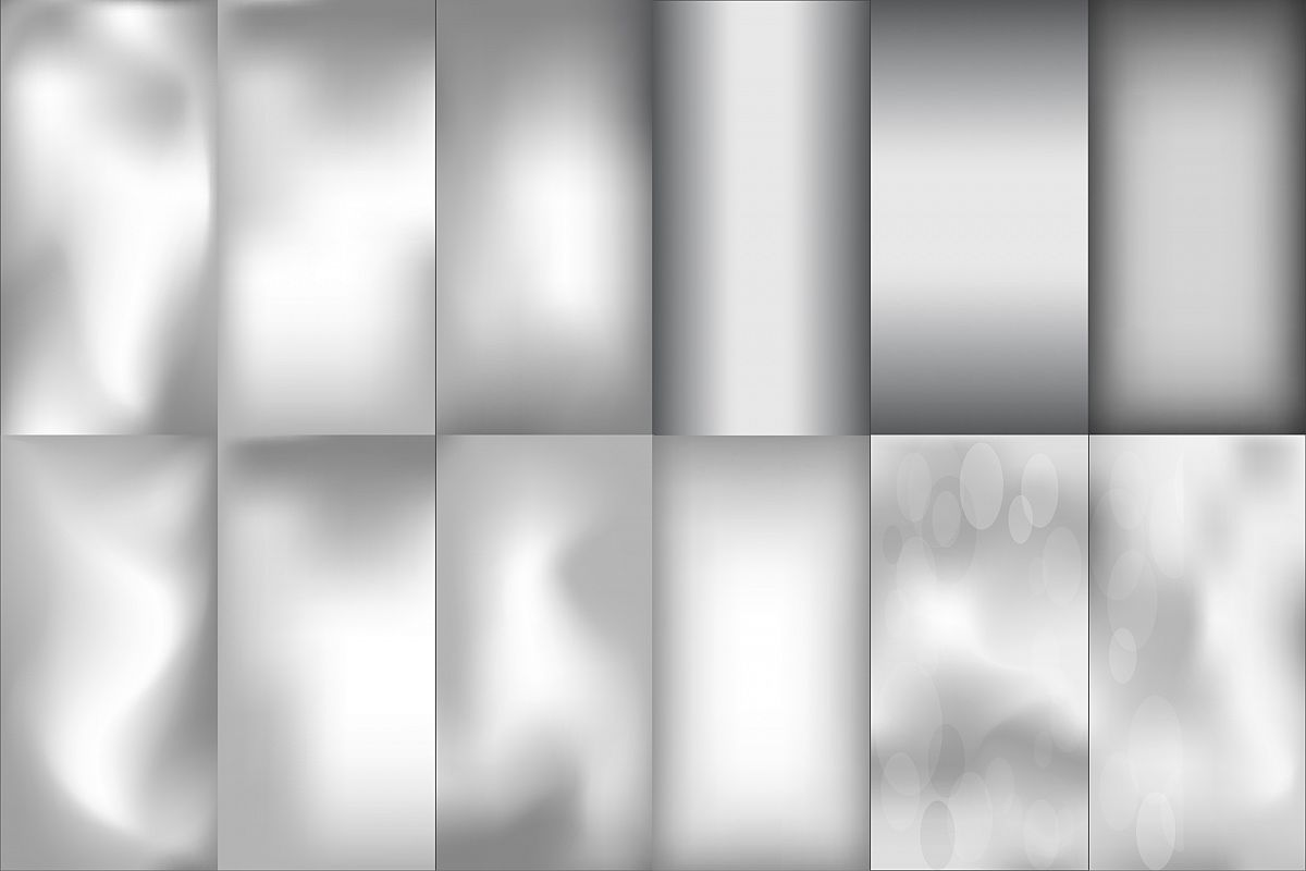 Blurred silver effect holographic gradient background example image 1