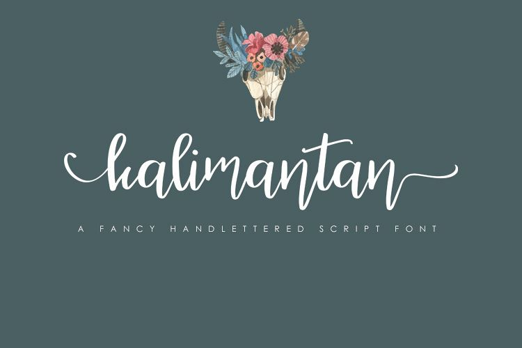 Kalimantan Script Font example image 1