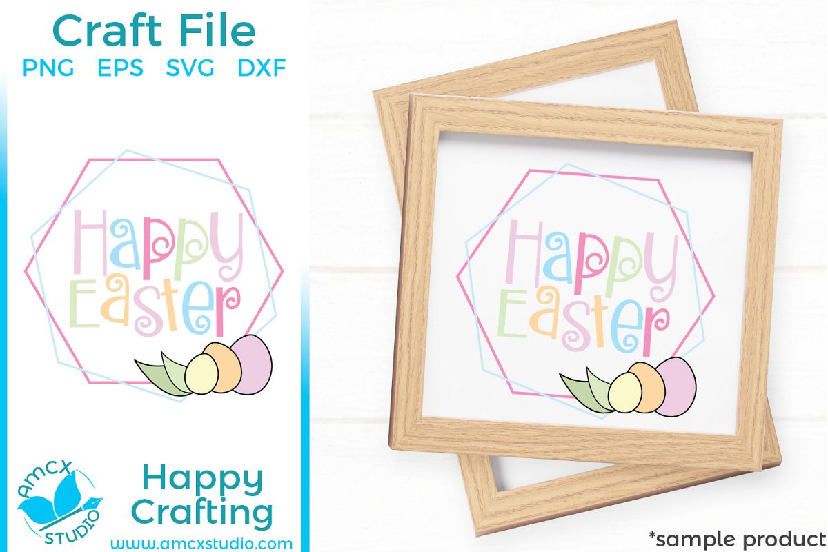 Happy Easter - Easter Sign Cut Craft Files example image 1