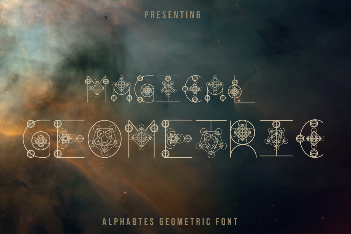 Magical Geometric Font example image 1