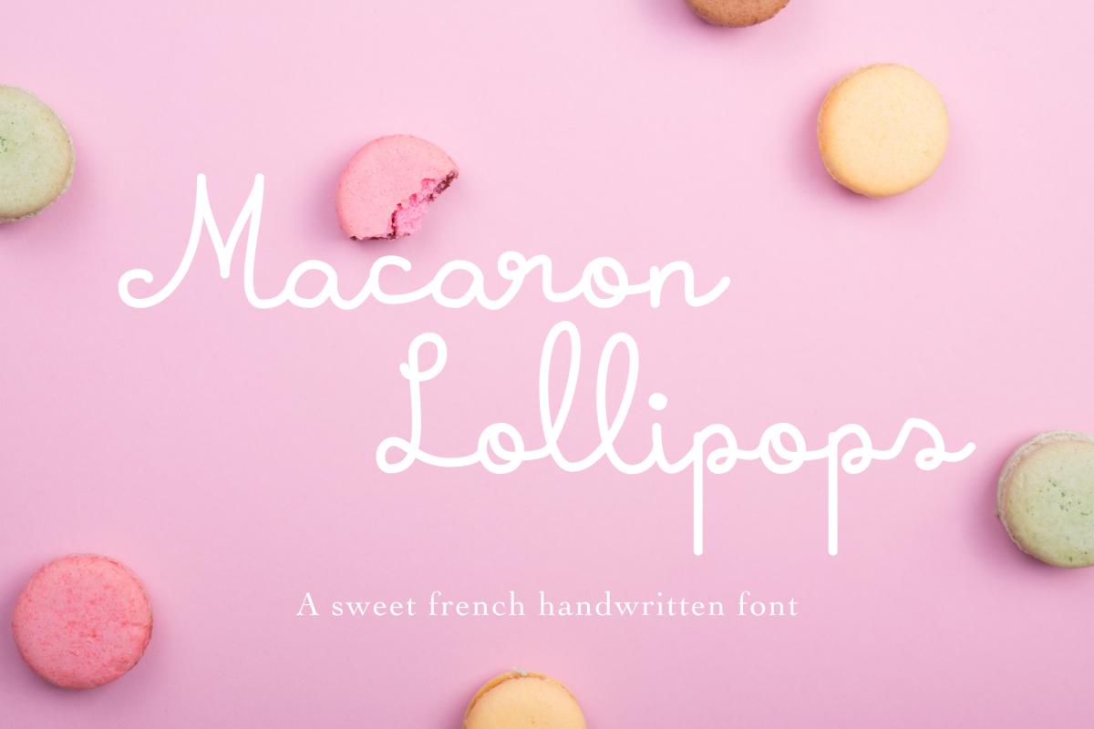Macaron Lollipops example image 1