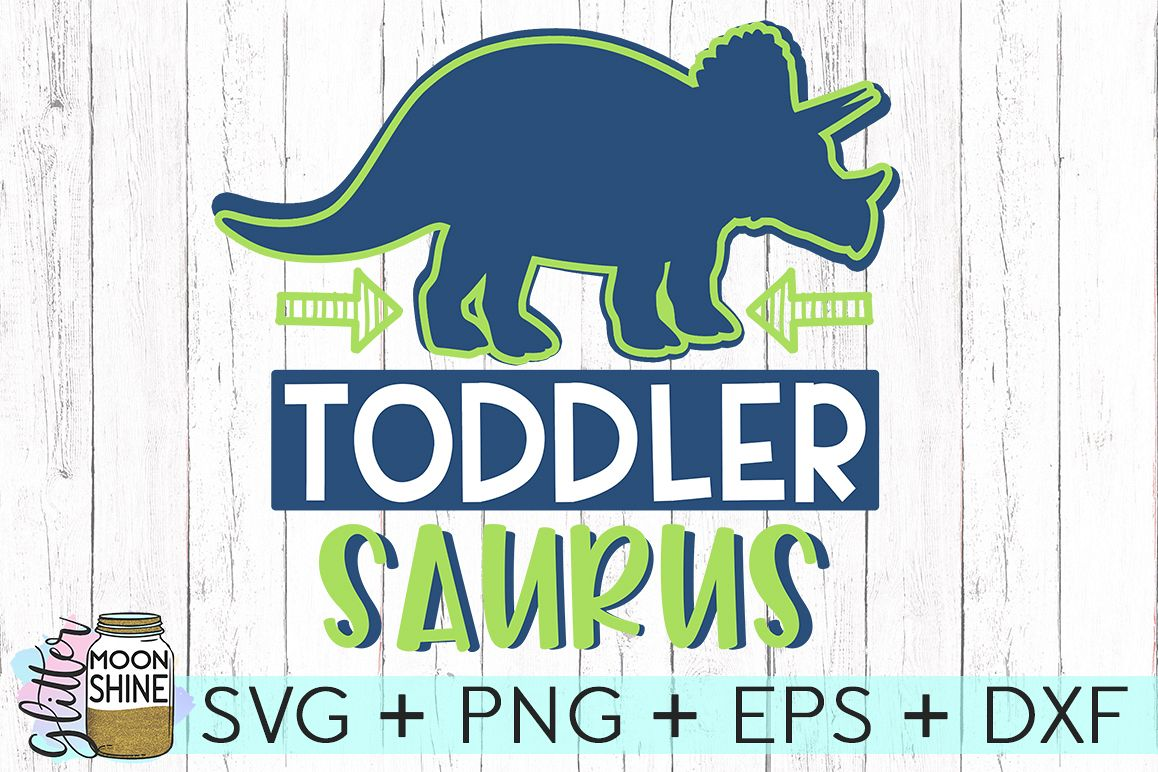 Toddler Saurus SVG DXF PNG EPS Cutting Files example image 1