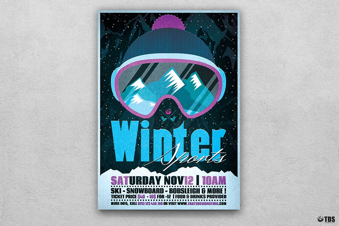 Winter Sports Flyer Template V2 example image 1