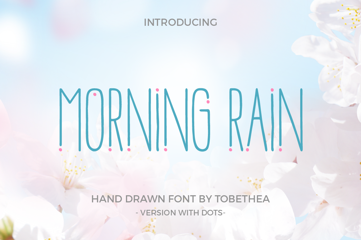 Morning Rain Font with Dots example image 1