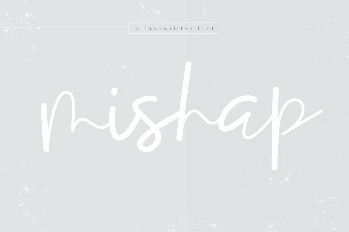 Mishap - A Chic Handwritten Font example image 1