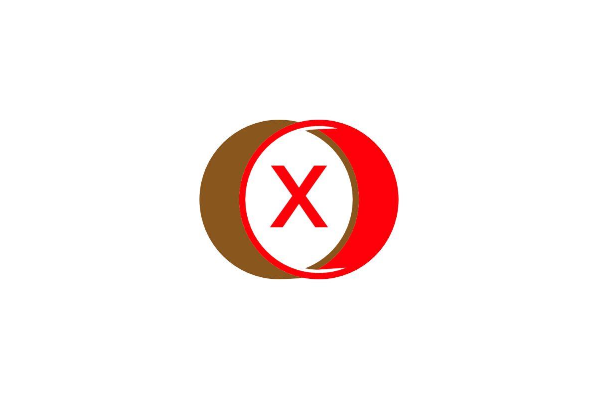 x letter circle logo example image 1