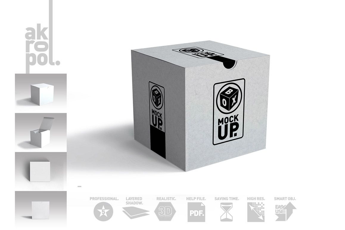 Package Box Mockups example image 1