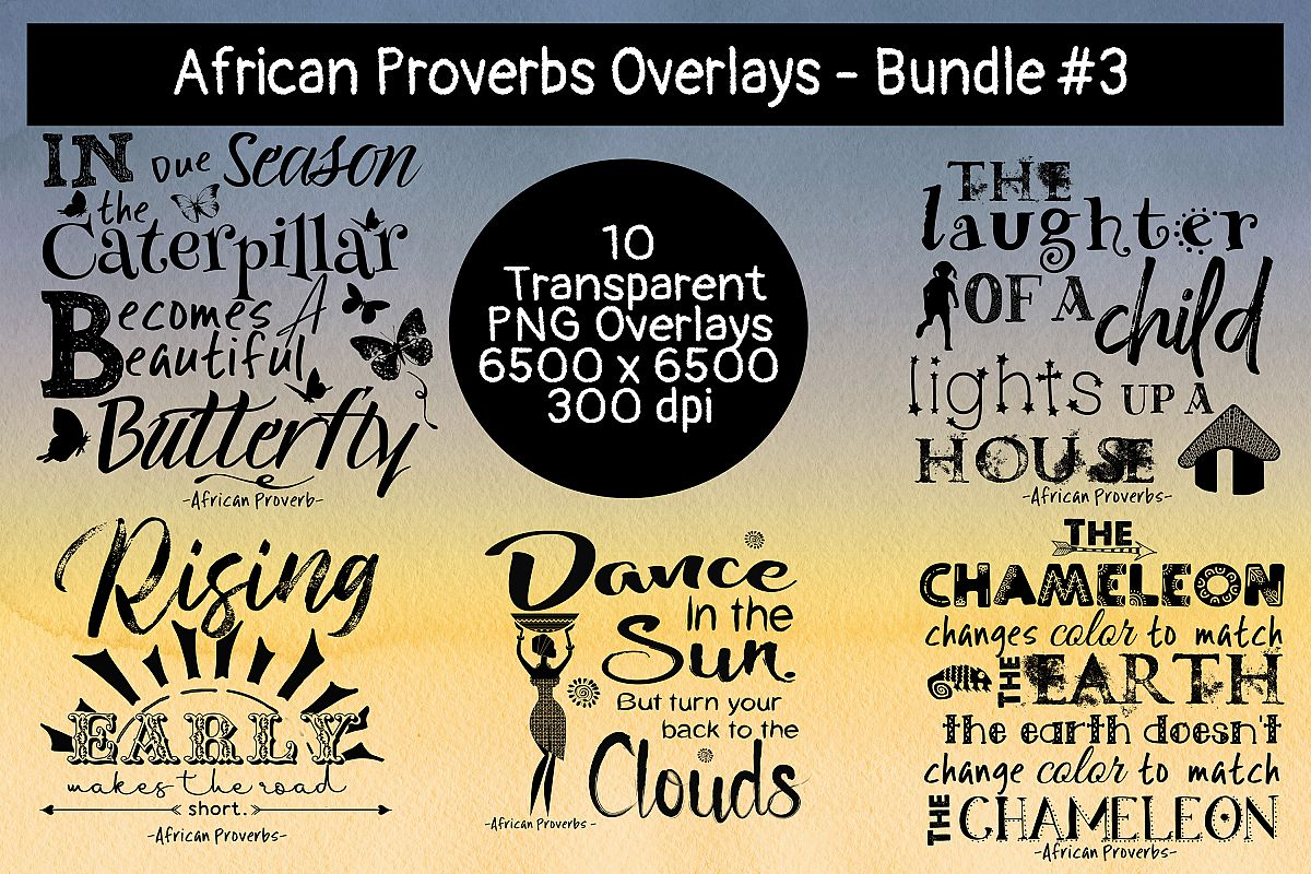 African Proverbs Overlays Bundles #3 example image 1