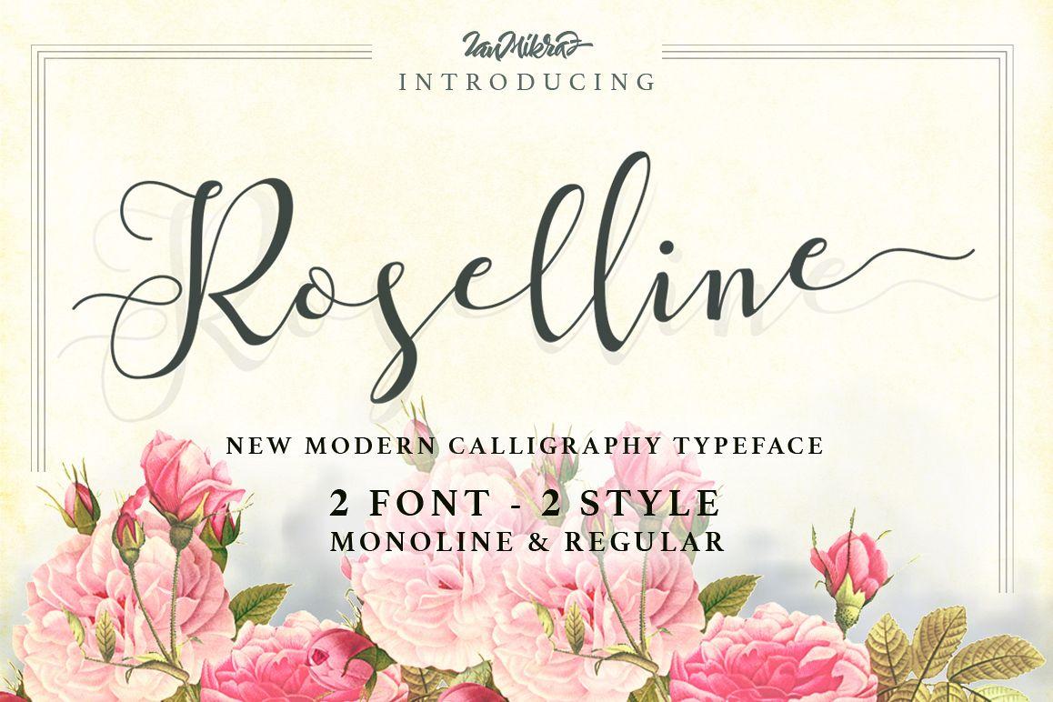 Roselline Typeface example image 1