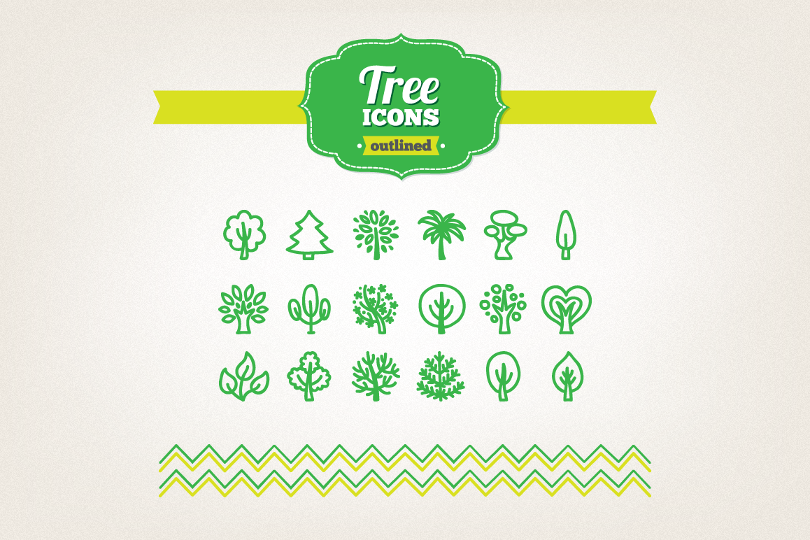 Hand Drawn Tree Icons example image 1