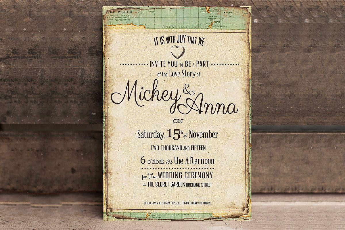 Vintage Journey Wedding Invitation example image 1