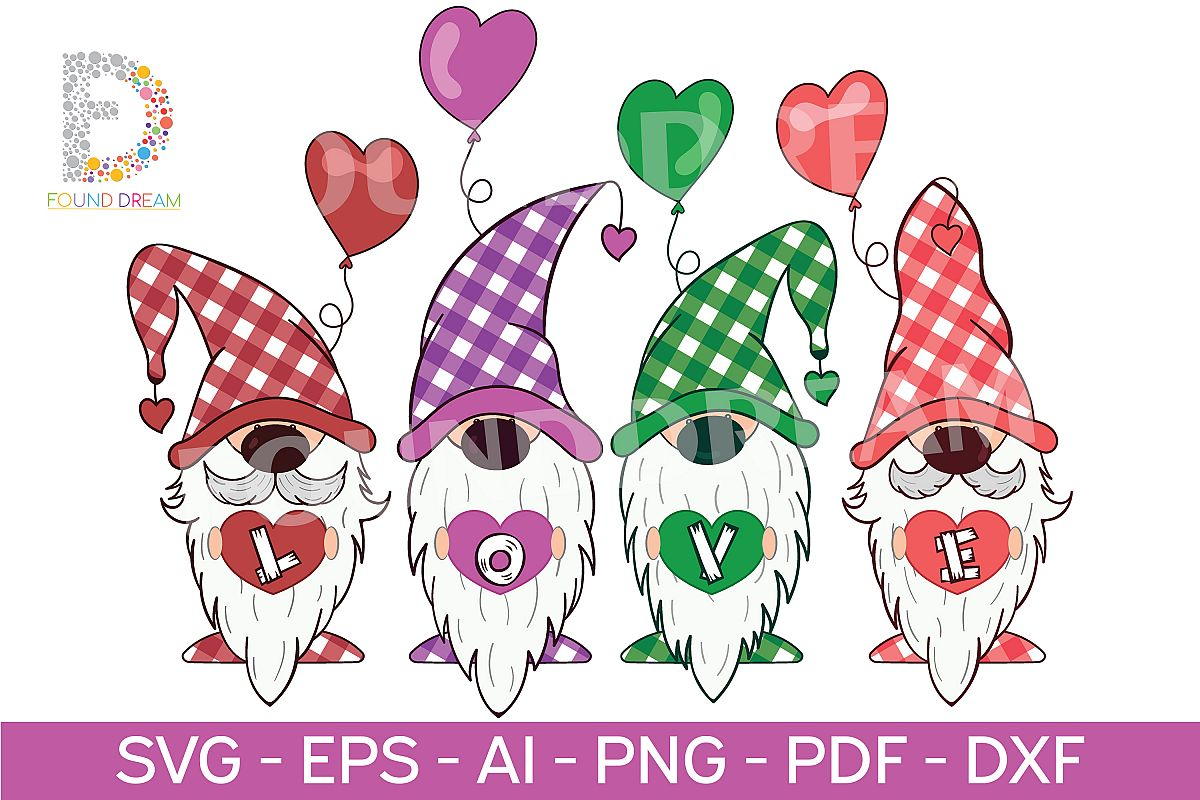 Download Gnome love clipart | svg file (310775) | Illustrations ...